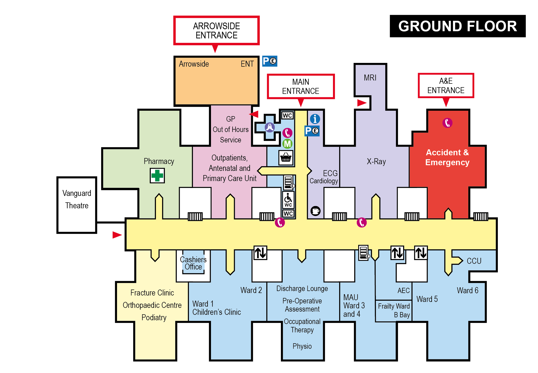 Clinic Floor Plan Finding Your Way Around Nhs Worcestershire Acute Hospitals